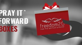 "Freedom2.0 ""Pray it forward"" gift box program"