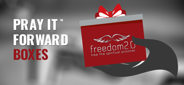 "Freedom2.0 ""Pray it forward"" gift box program"